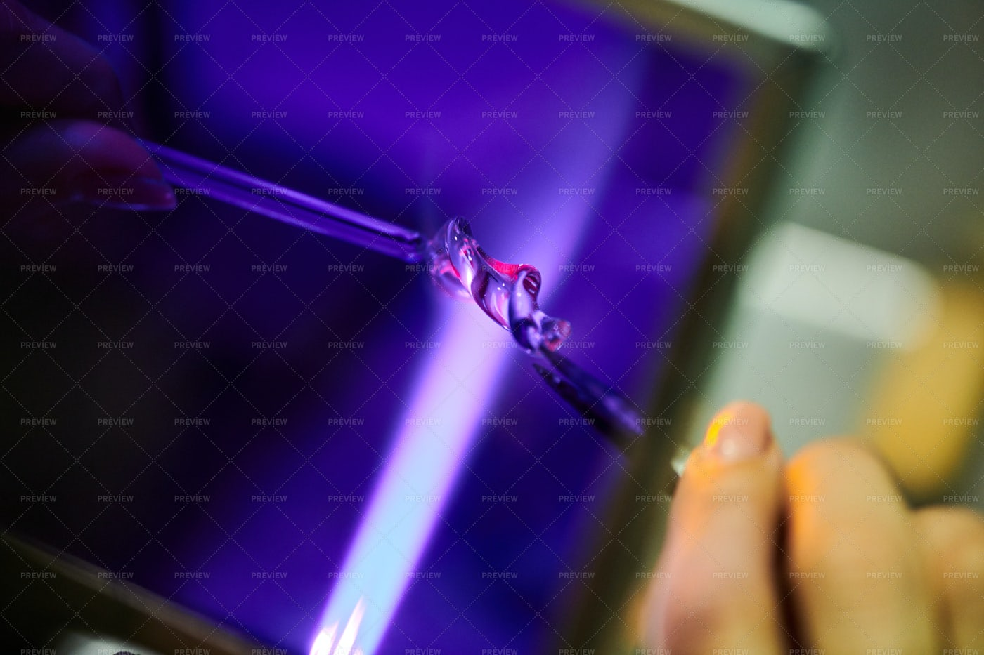 Shaping Glass Closeup: Stock Photos