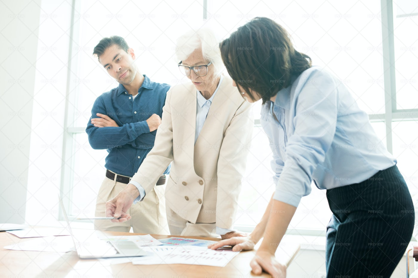 Confident Senior Businesswoman...: Stock Photos