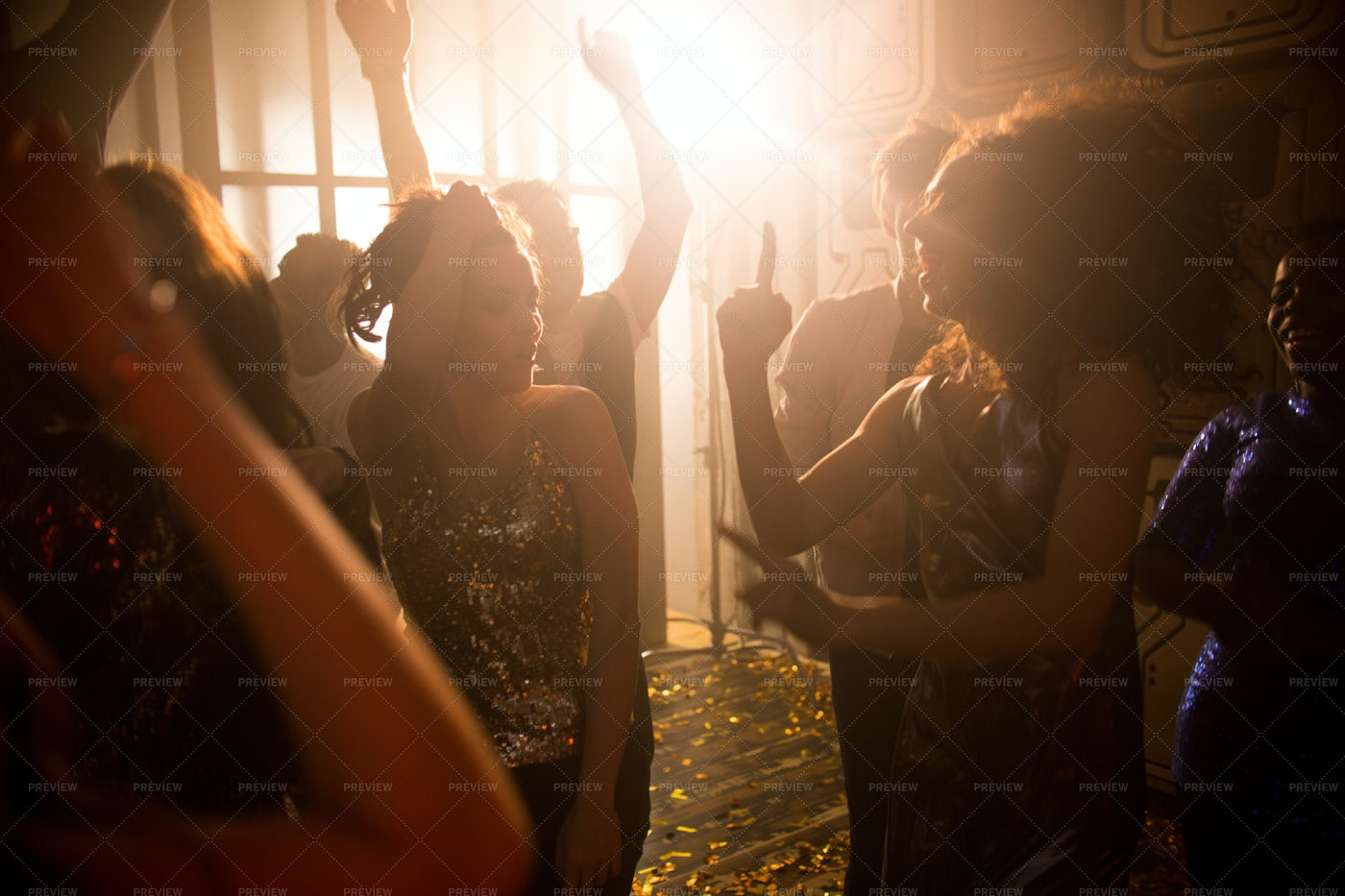 Crowd Of People In Nightclub: Stock Photos