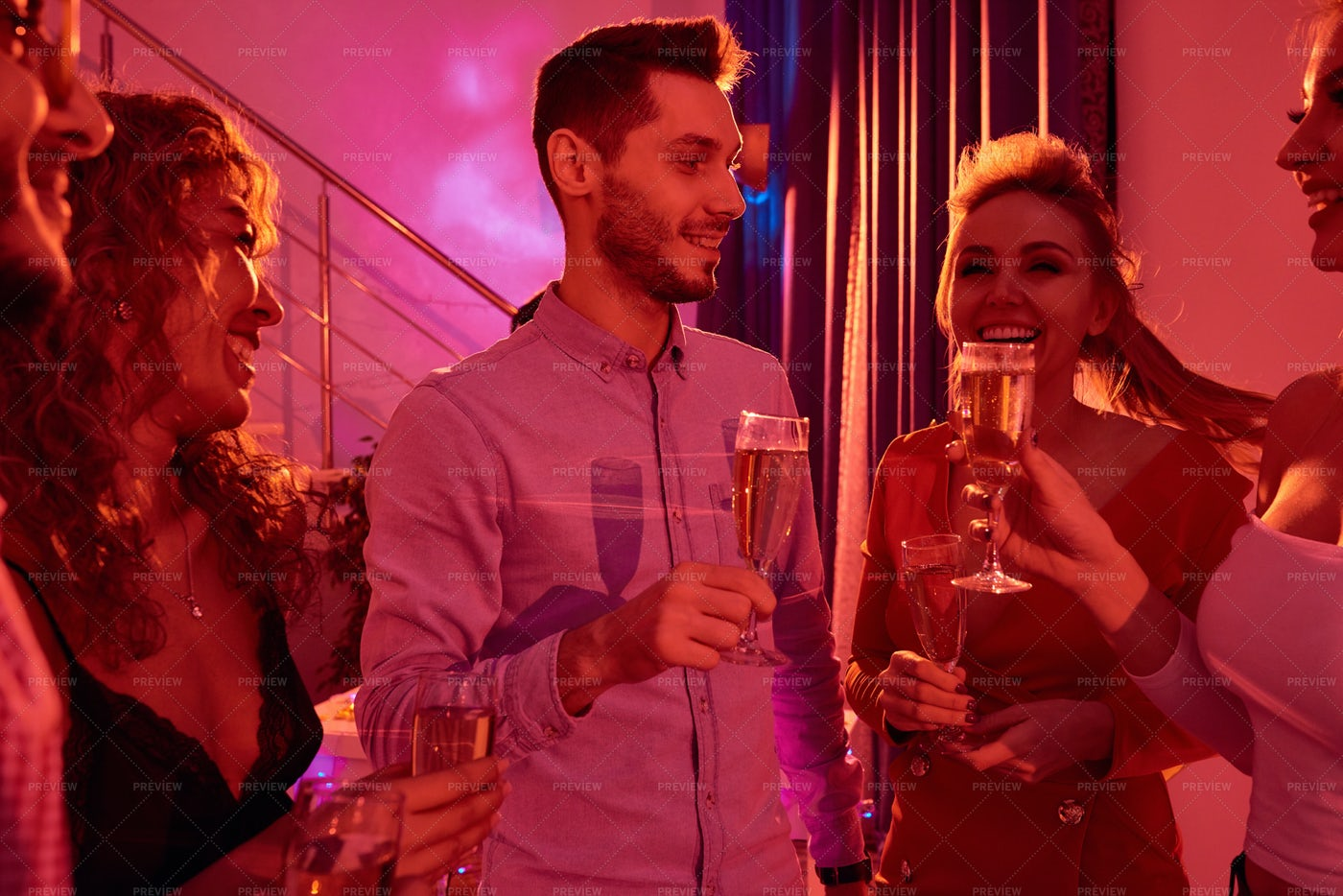 People Enjoying Private Party: Stock Photos
