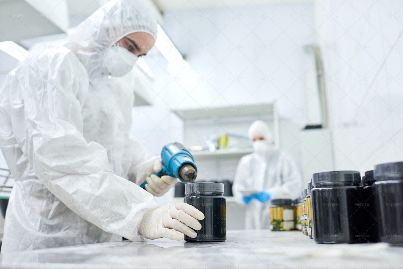 Working Process In Manufacturing...: Stock Photos