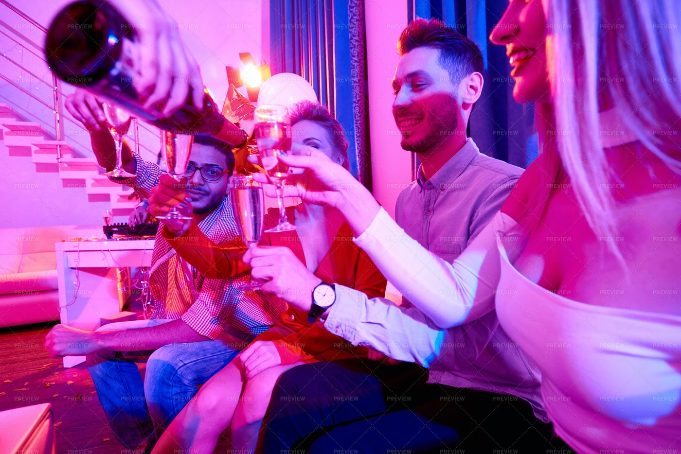 People Enjoying Reception Party: Stock Photos