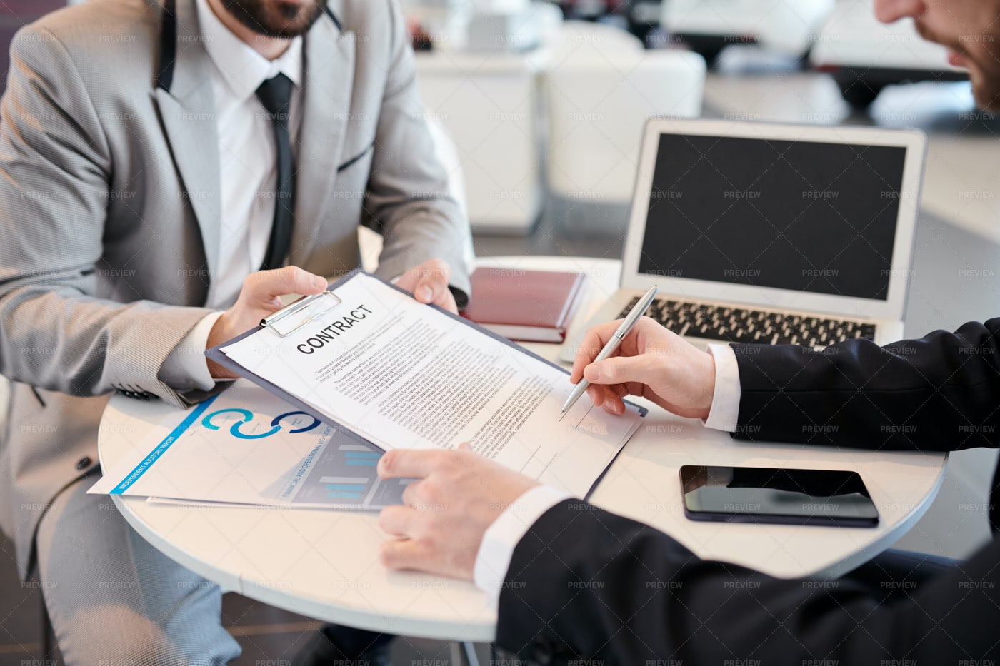 Man Signing A Contract: Stock Photos