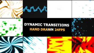 Dynamic Elemental Transitions: Motion Graphics