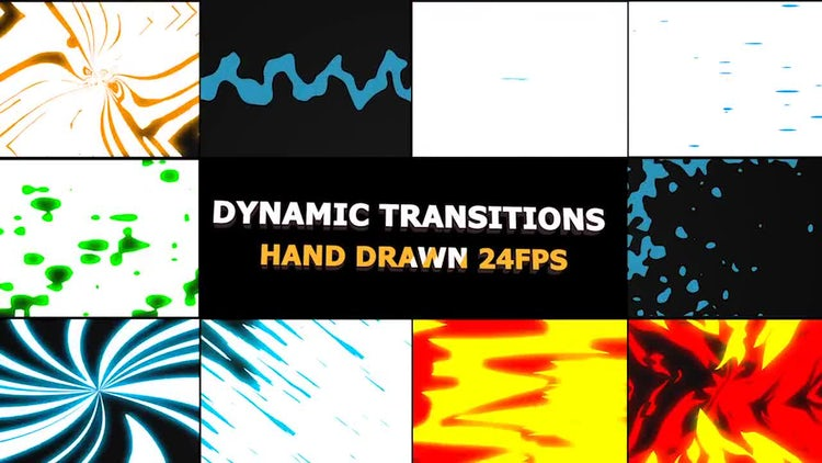 Dynamic Elemental Transitions: Stock Motion Graphics