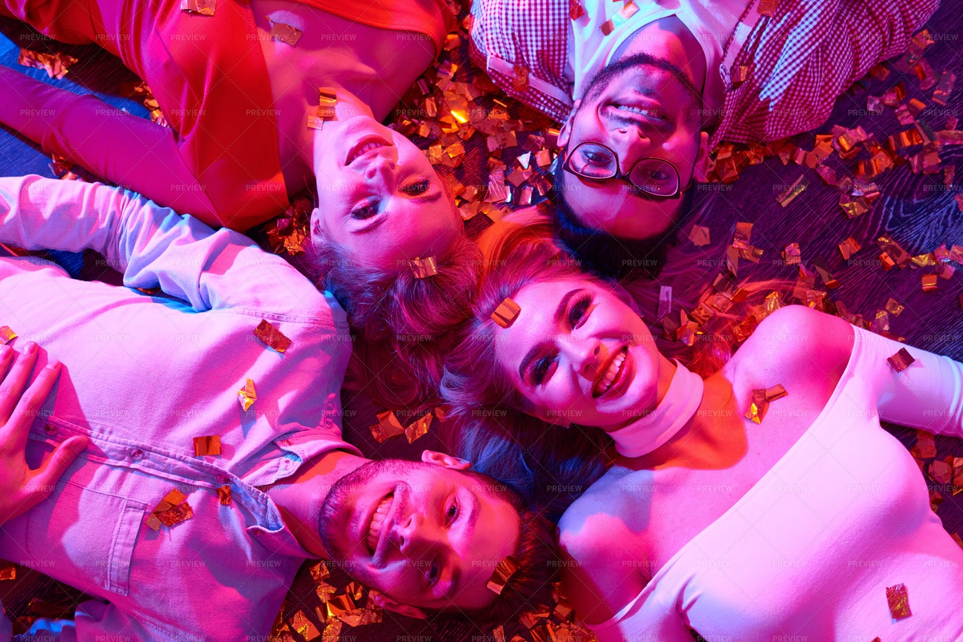 Young People At Raging Party: Stock Photos