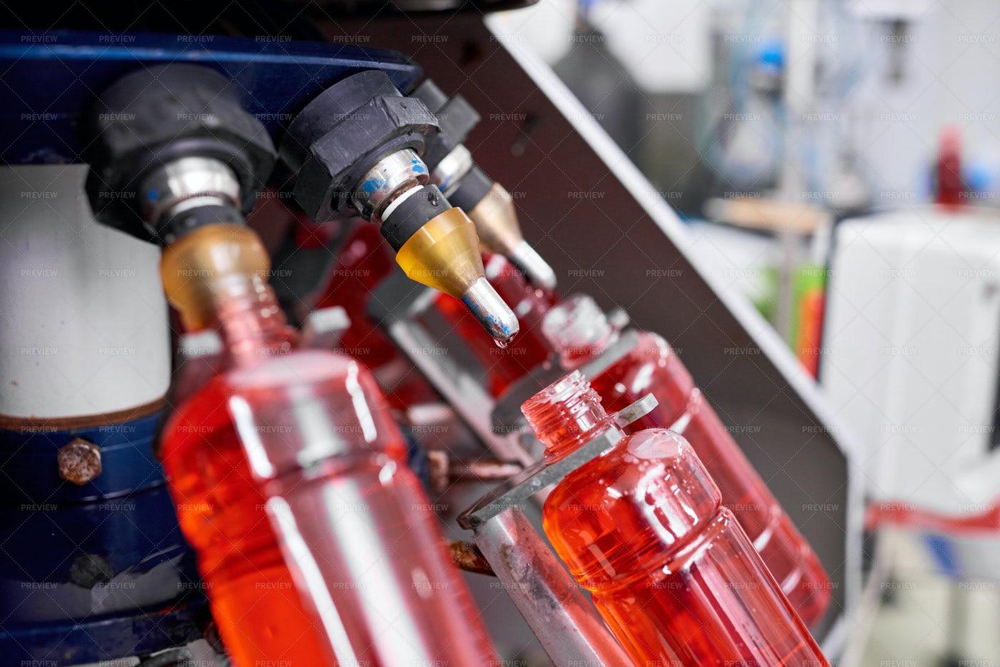 Modern Bottling Equipment: Stock Photos