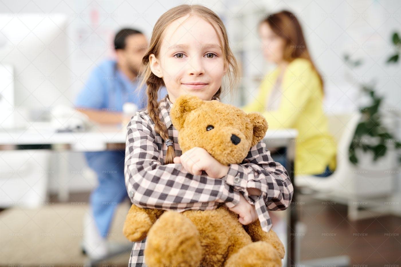 Cute Little Girl Posing In Doctor...: Stock Photos