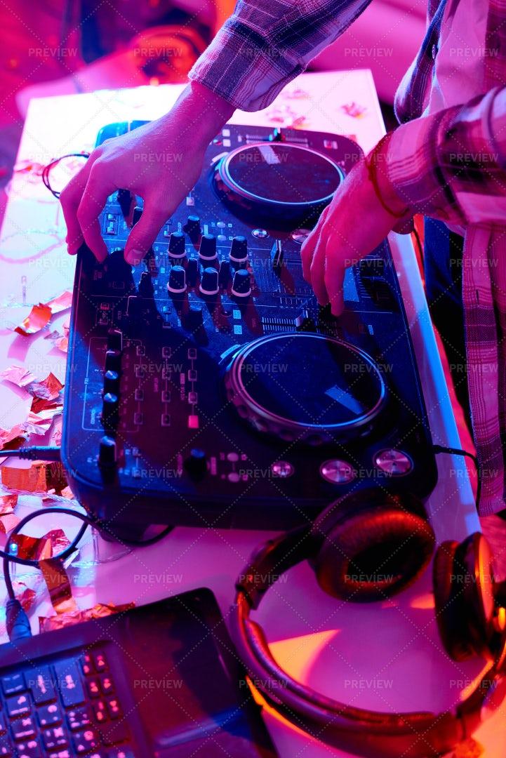 DJ At Music Mixer: Stock Photos