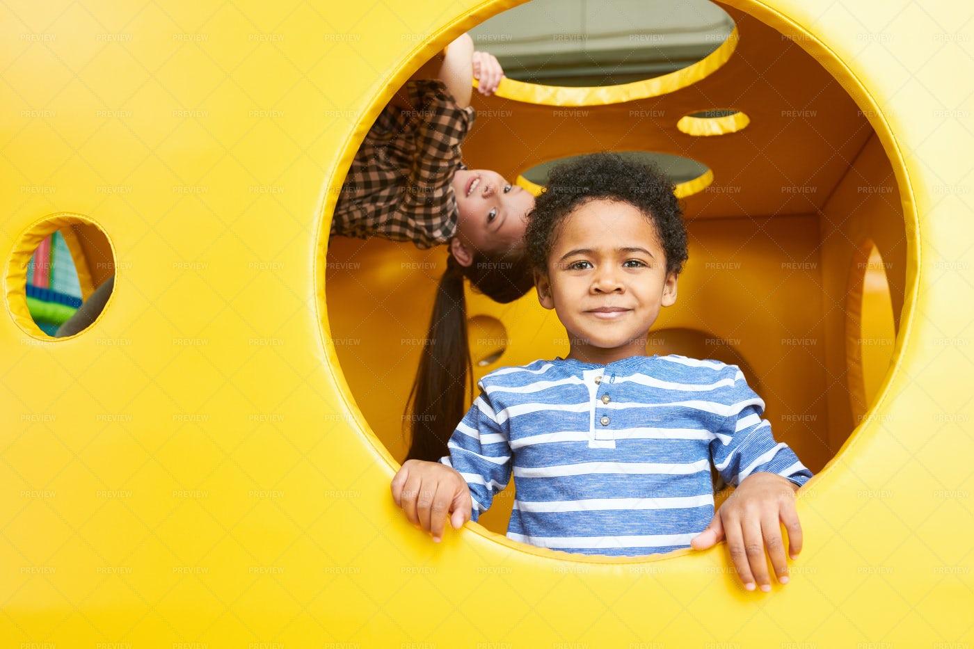 African-American Boy In Play Center: Stock Photos
