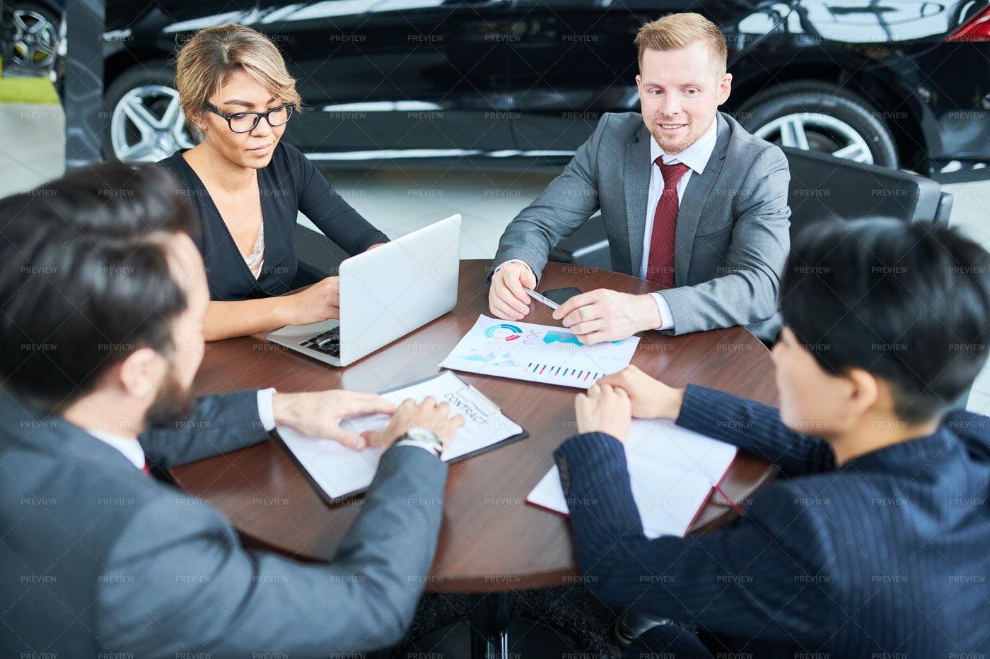 Business Team At Car Salon: Stock Photos