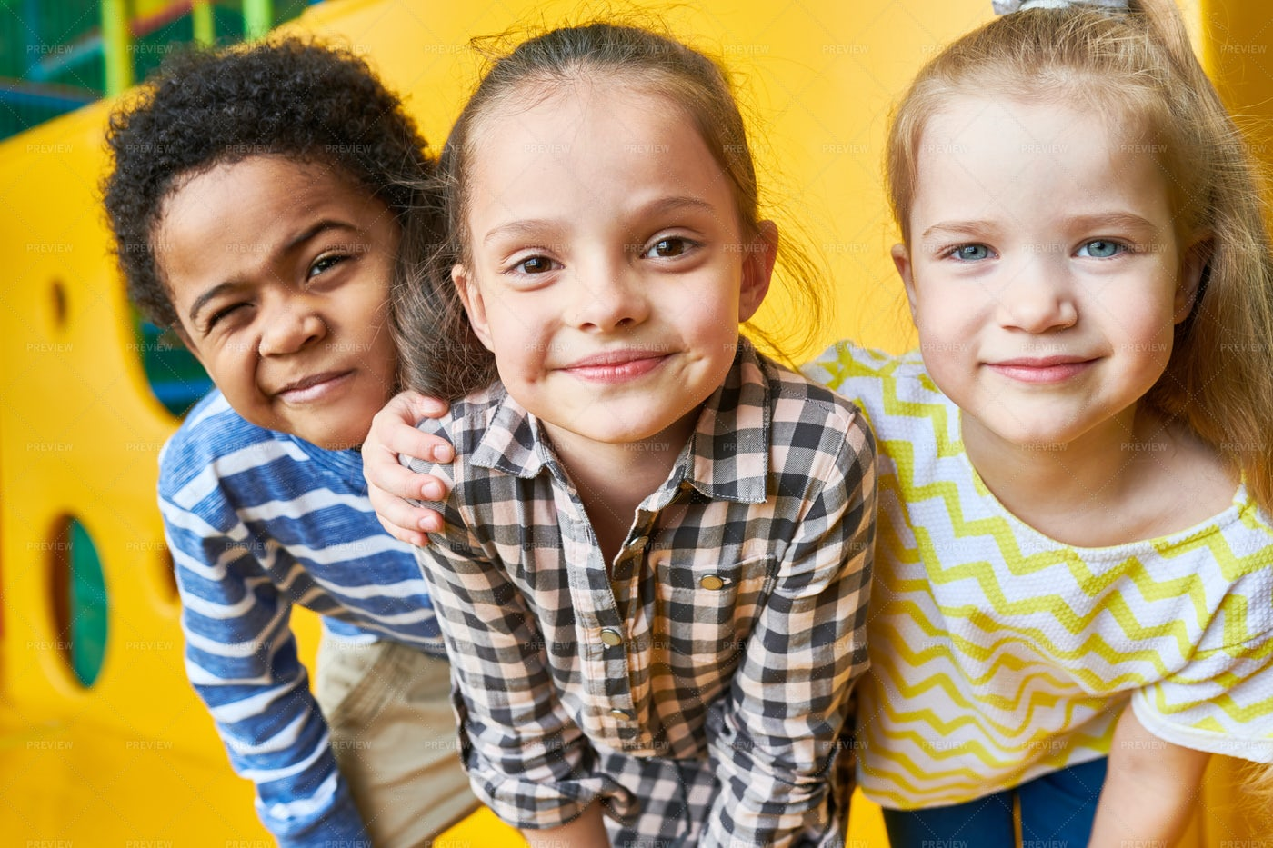 Happy Children Looking At Camera In...: Stock Photos