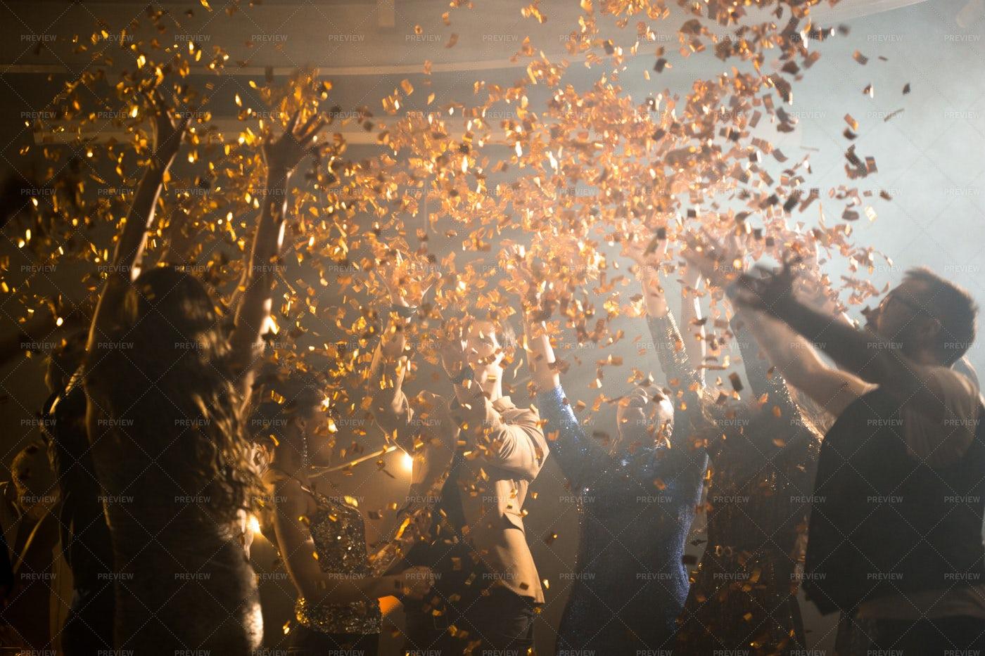 Enjoying Party At Night Club: Stock Photos