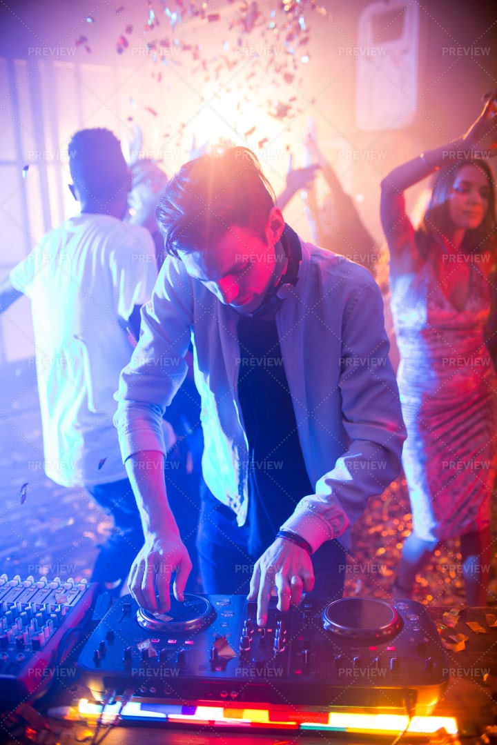 Hang-out At Modern Night Club: Stock Photos
