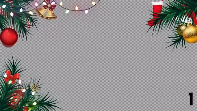 Christmas Animated Frames: Stock Motion Graphics