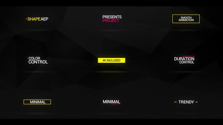Minimal Titles Animations: After Effects Templates