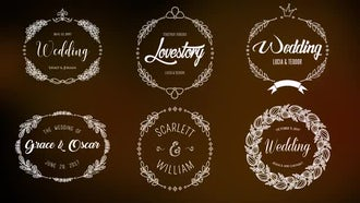 12 Wedding Opener Titles: Motion Graphics Templates