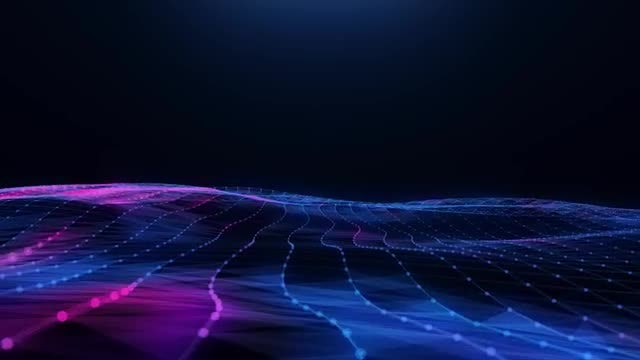 Abstract Blue-Pink Plexus Field: Stock Motion Graphics