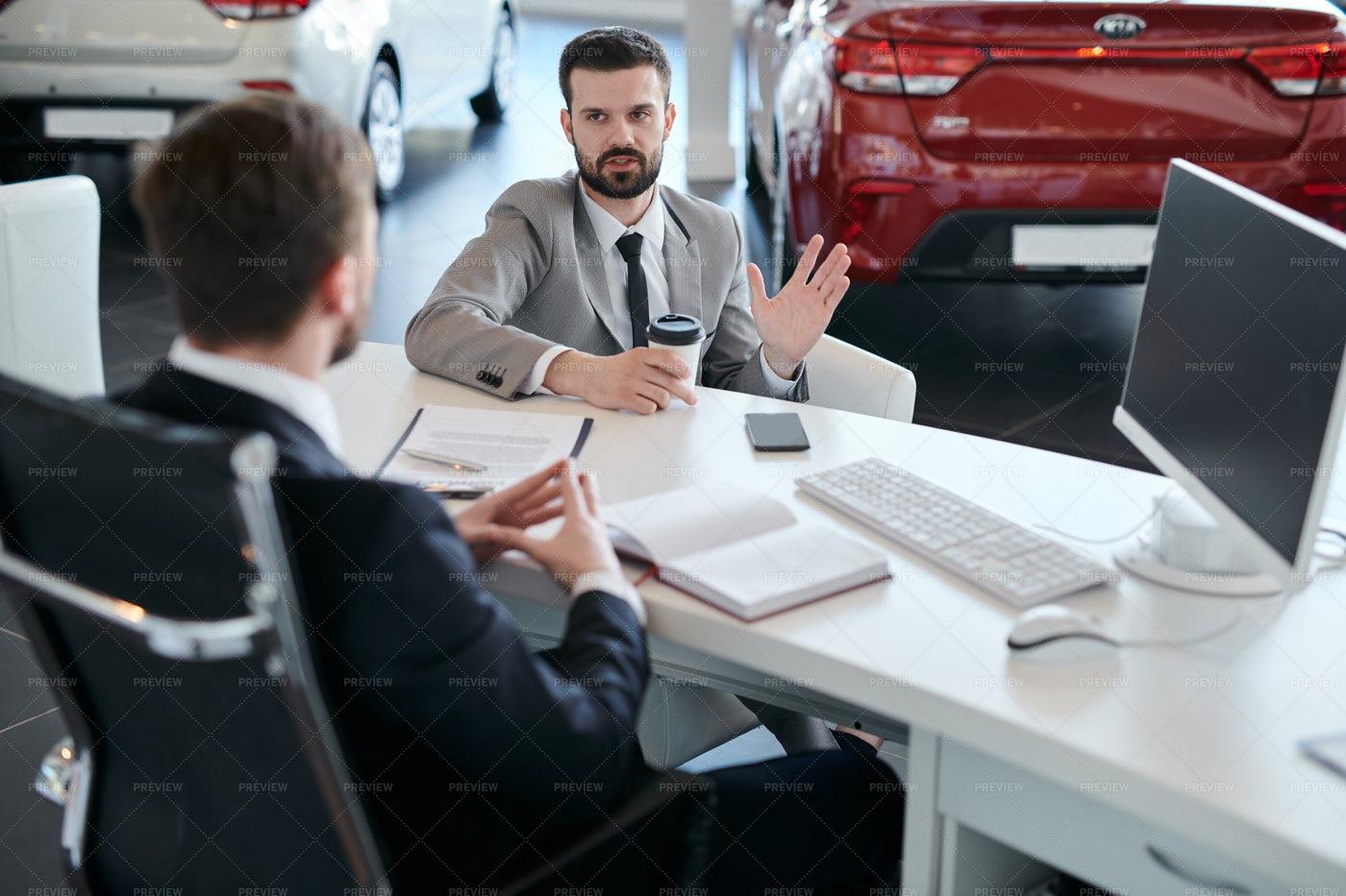 Businessman Choosing Car: Stock Photos