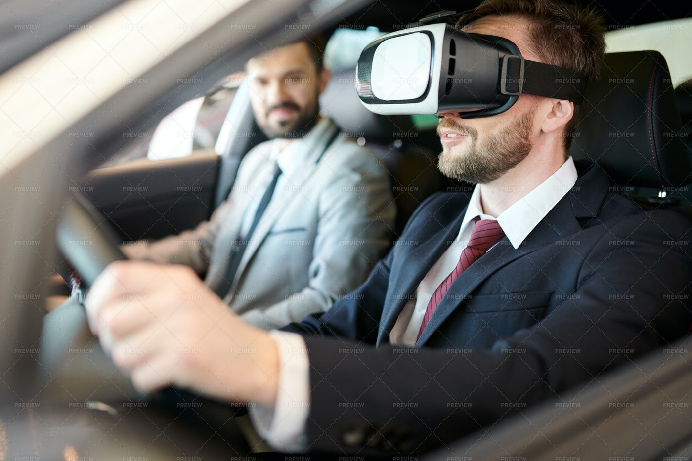 Driving In VR: Stock Photos