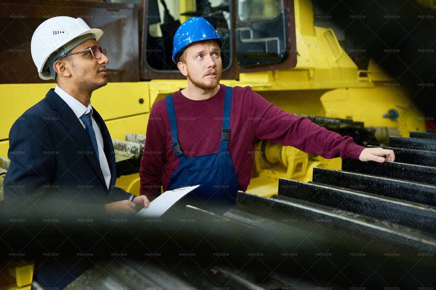 Giving Factory Tour To Potential...: Stock Photos