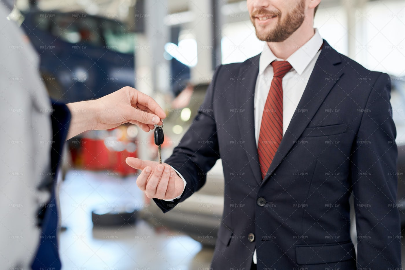 Businessman Holding Car Keys: Stock Photos