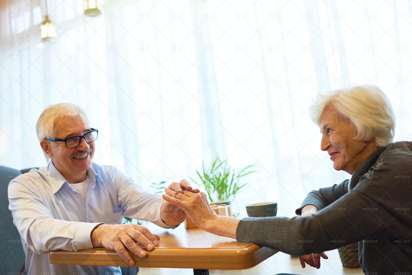 Senior Couple Celebrating Momentous...: Stock Photos
