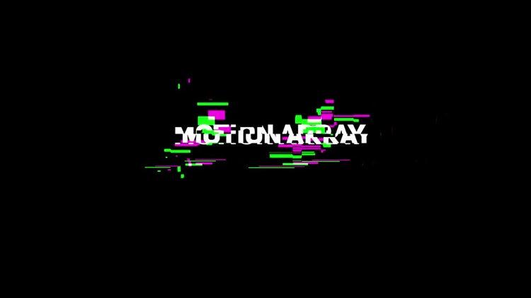 Digital glitch logo: Premiere Pro Templates