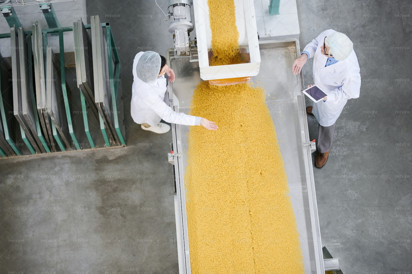 Food Factory Background: Stock Photos