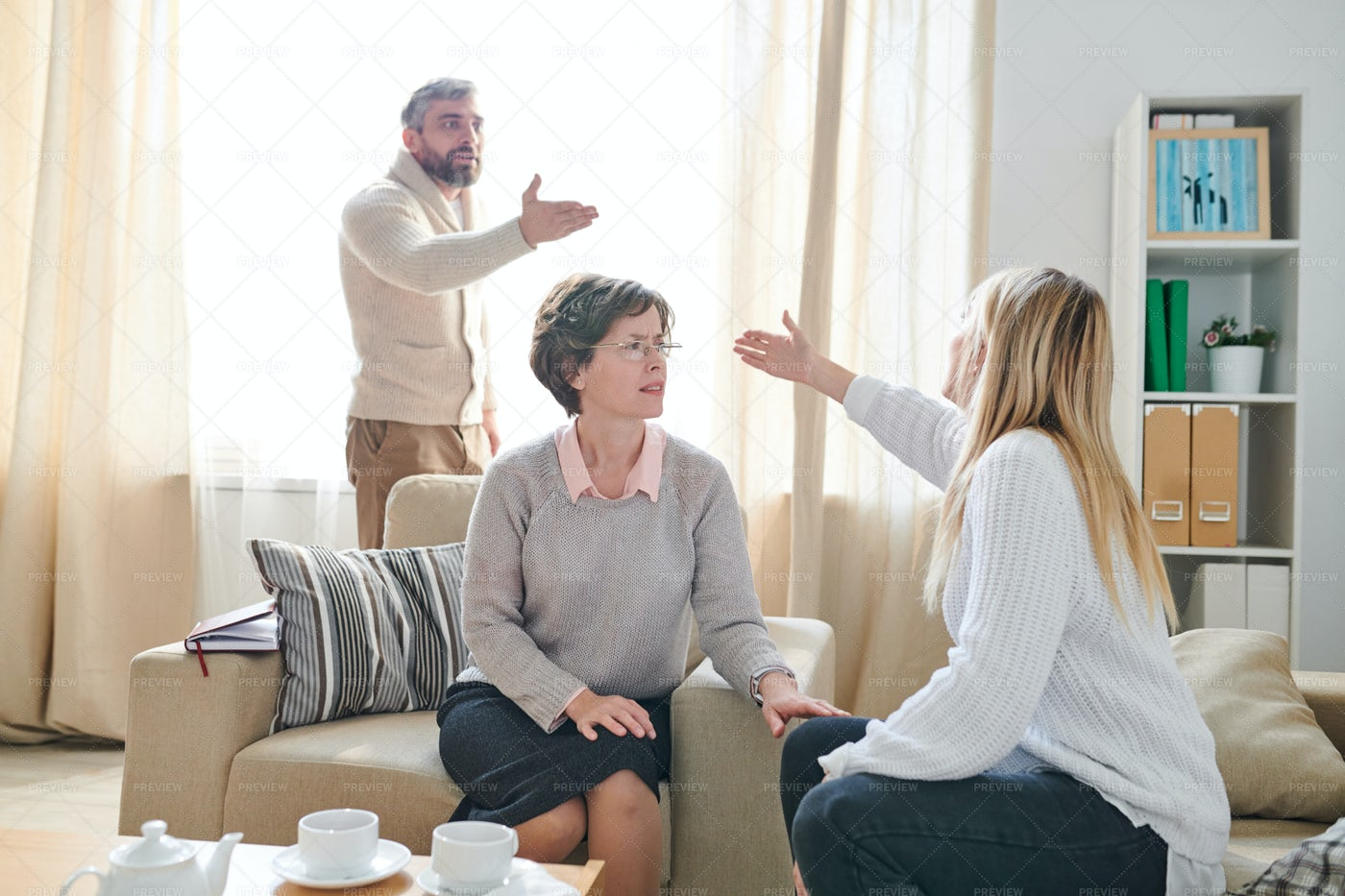 Family Psychologist Listening To...: Stock Photos