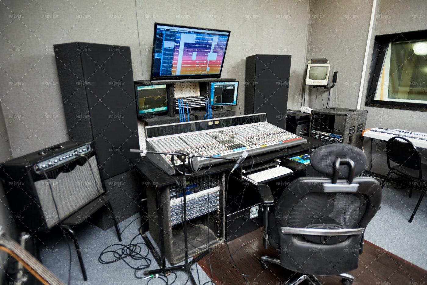 Recording Studio With Modern...: Stock Photos