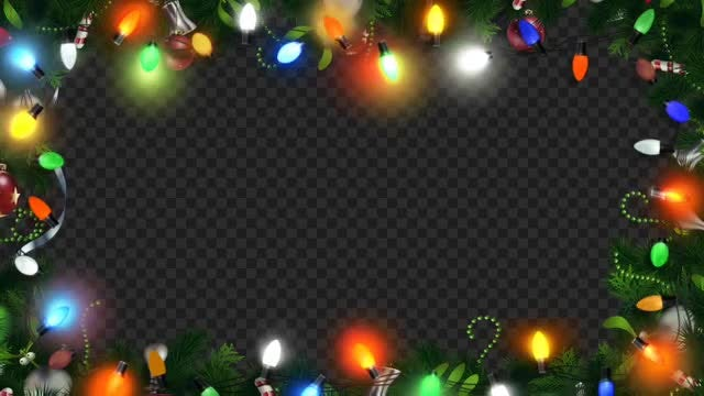 Christmas Light Frame: Stock Motion Graphics