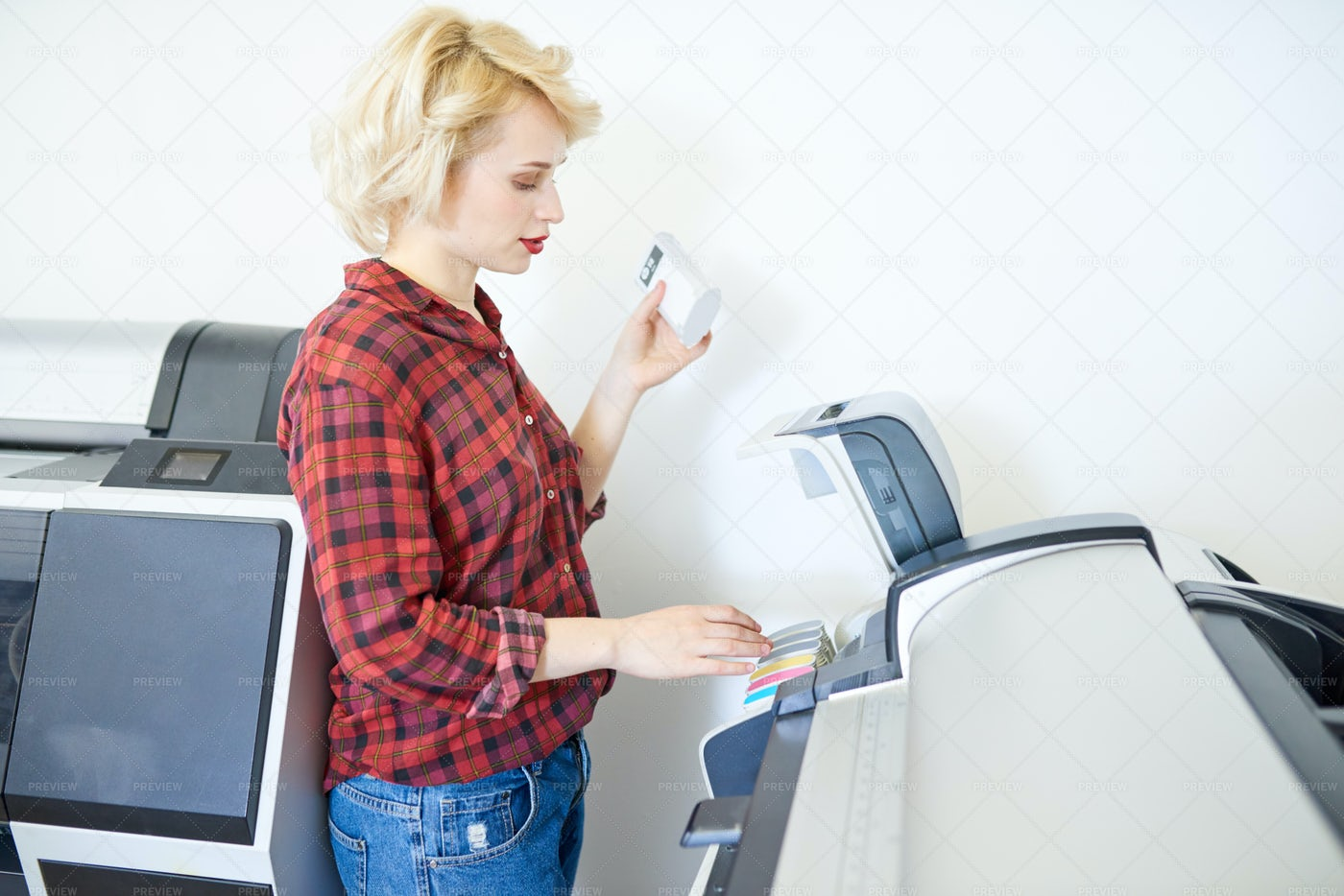 Printing Shop Operator: Stock Photos