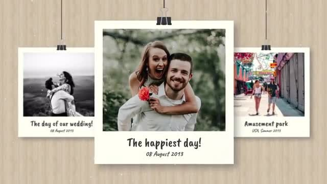 Polaroid Memories Slideshow: After Effects Templates