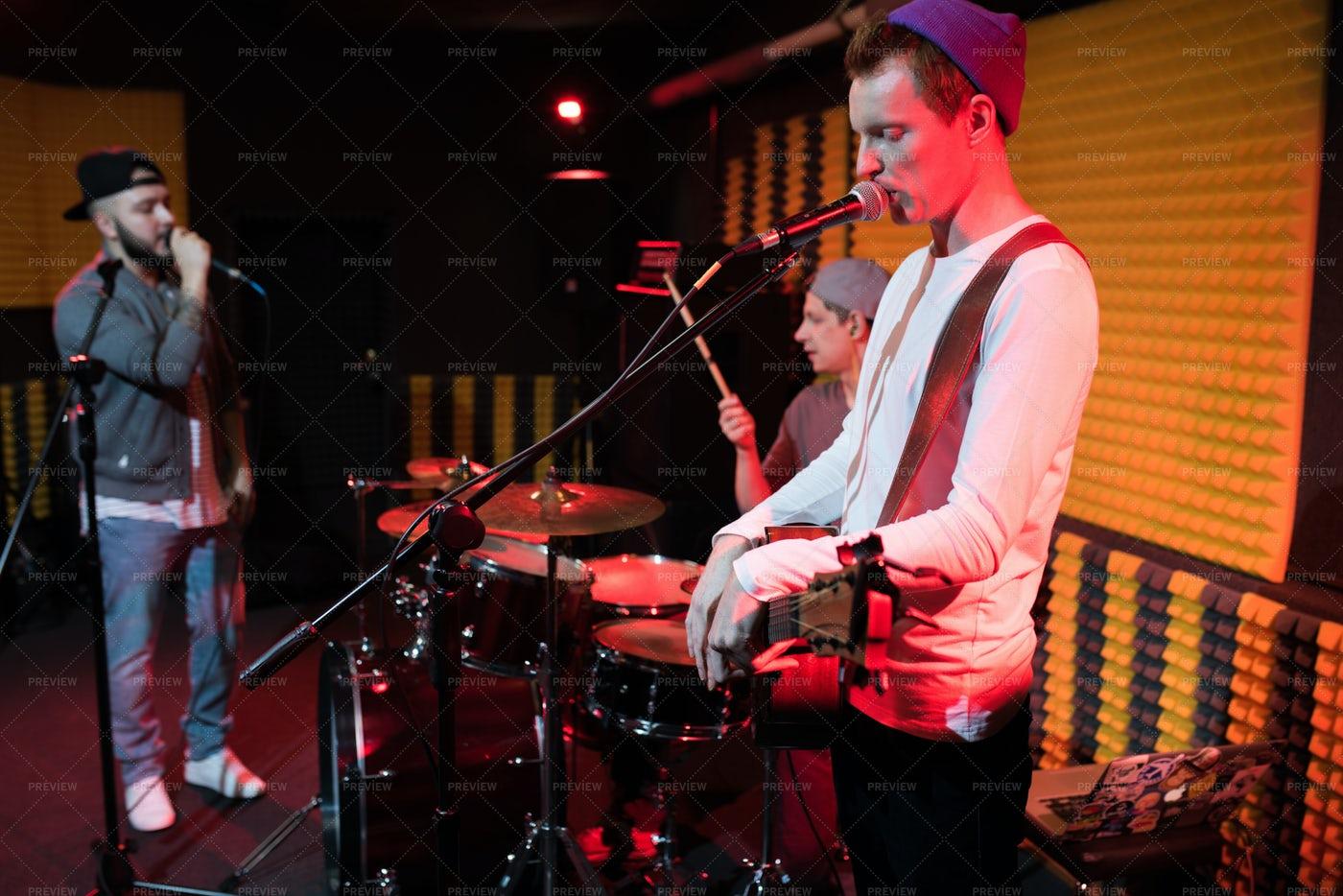 Modern Music Band Performance: Stock Photos