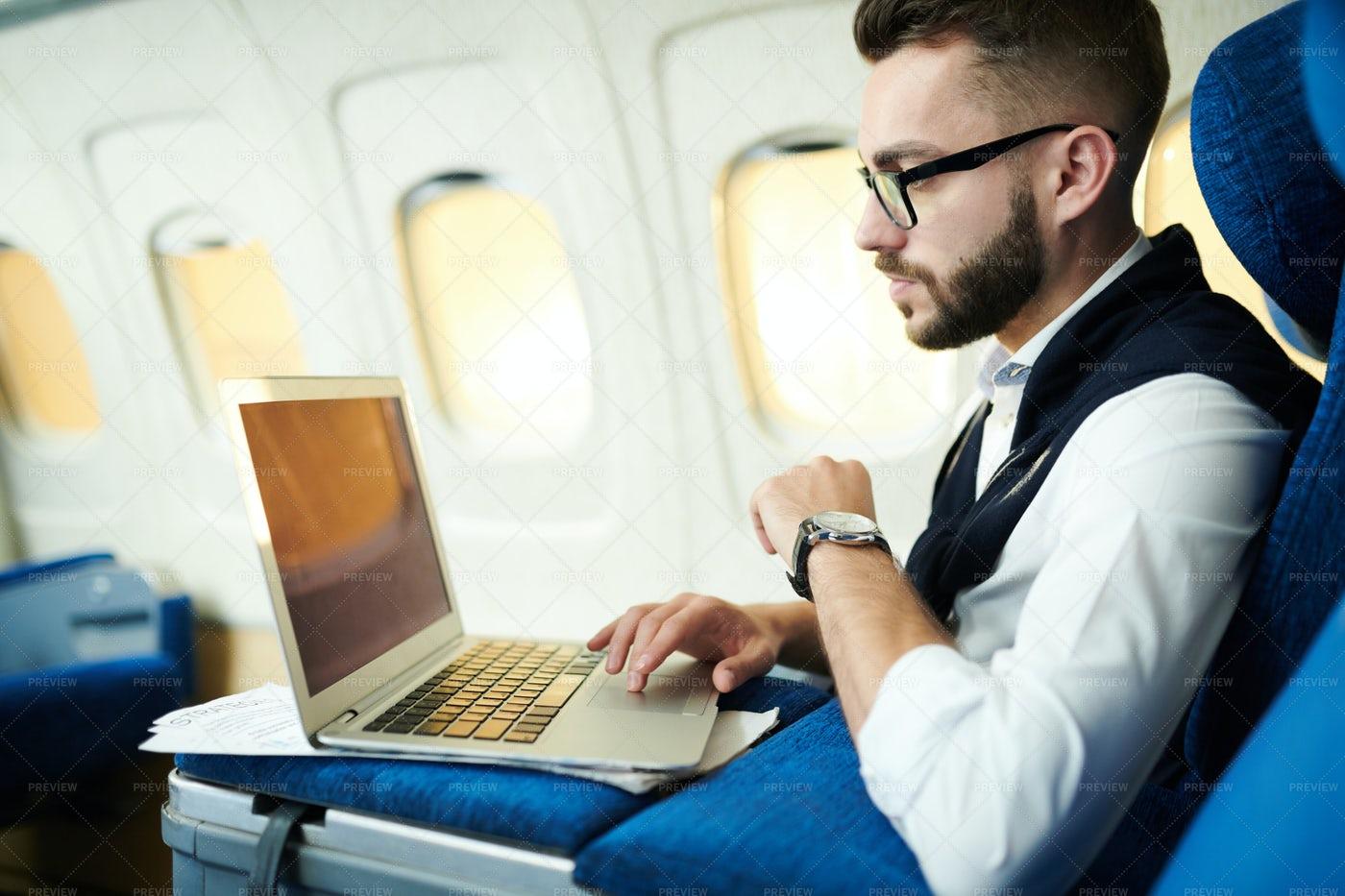 Man Working In Plane: Stock Photos
