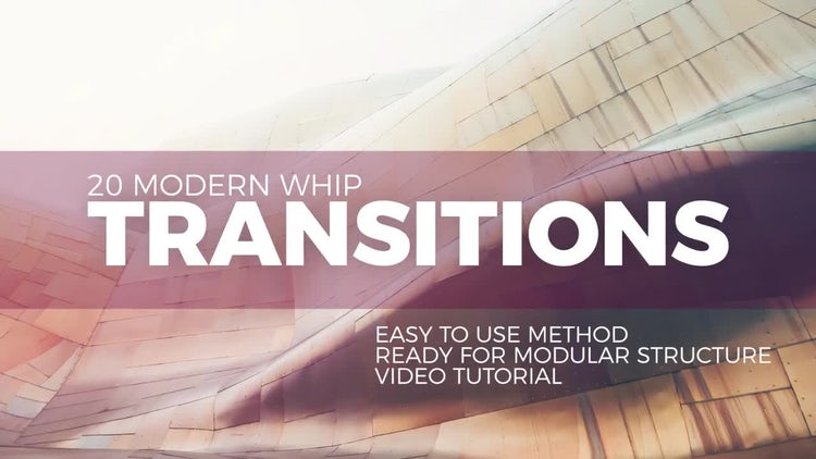 Modern Whip Transitions: Premiere Pro Templates