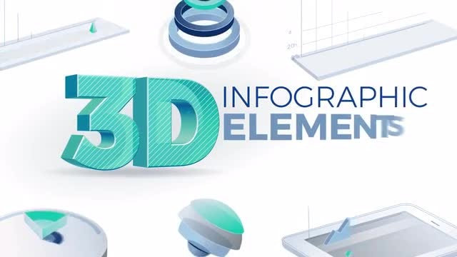 3D Infographic Elements: After Effects Templates