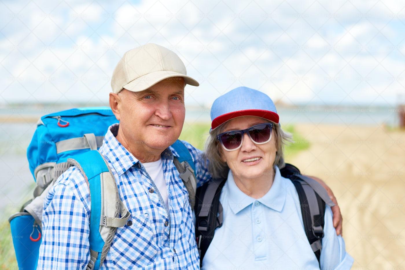 Active Senior Couple Posing: Stock Photos