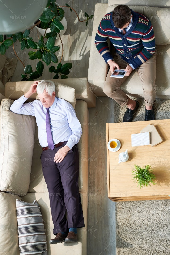 Senior Businessman Sharing His...: Stock Photos