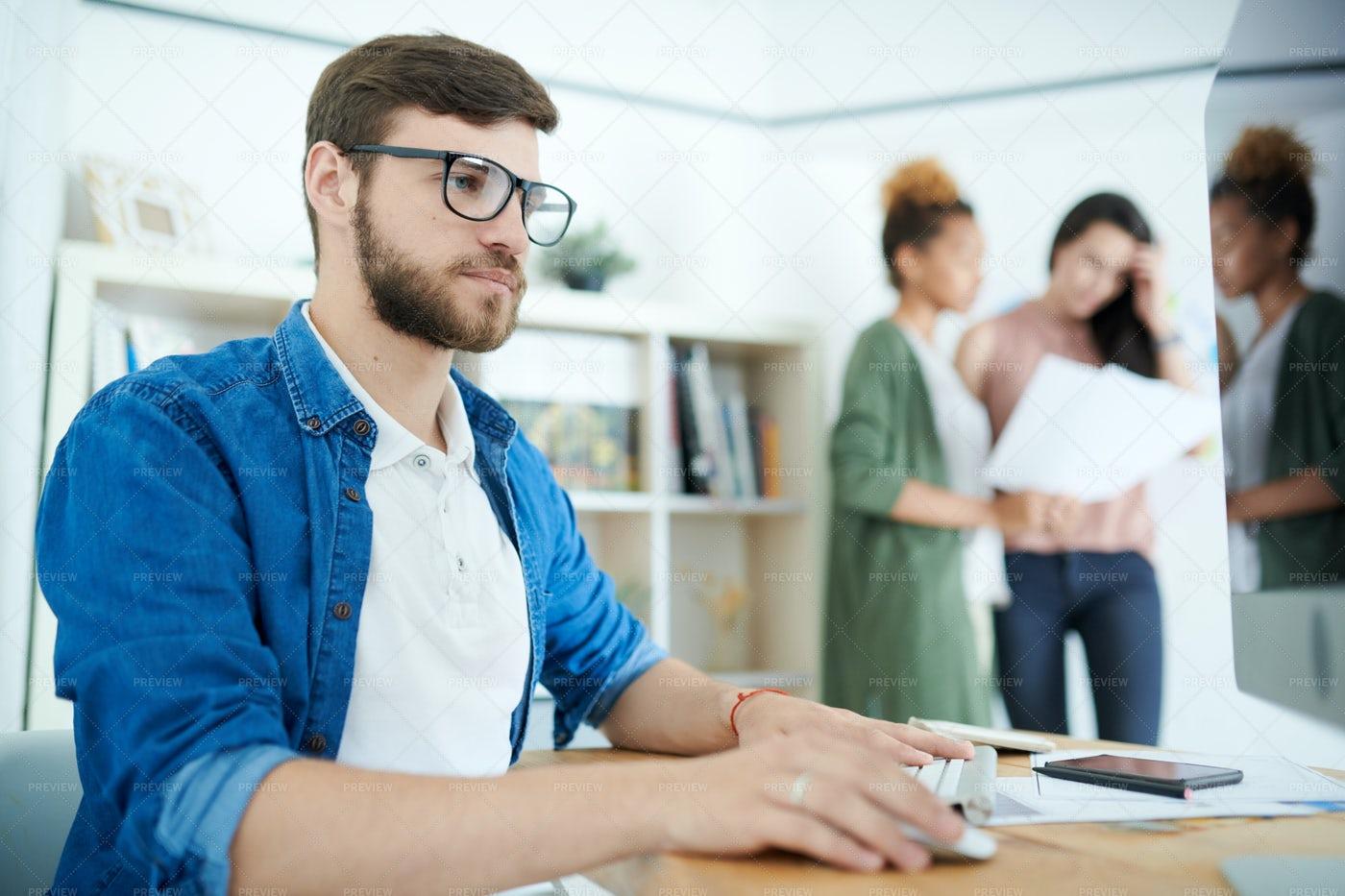 Young Businessman At Work: Stock Photos