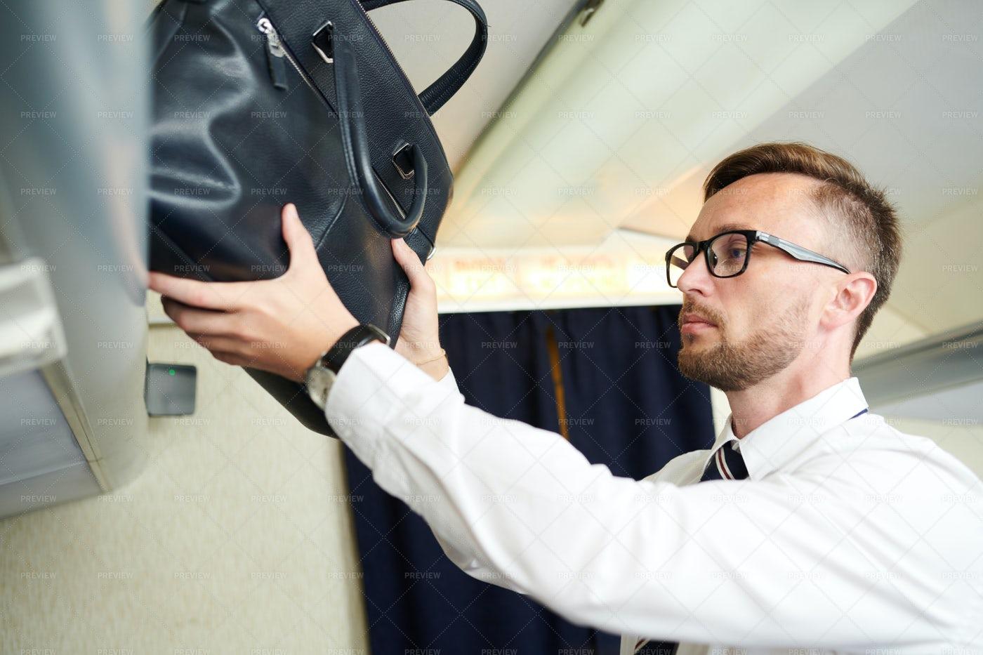 Passenger Taking Bag: Stock Photos