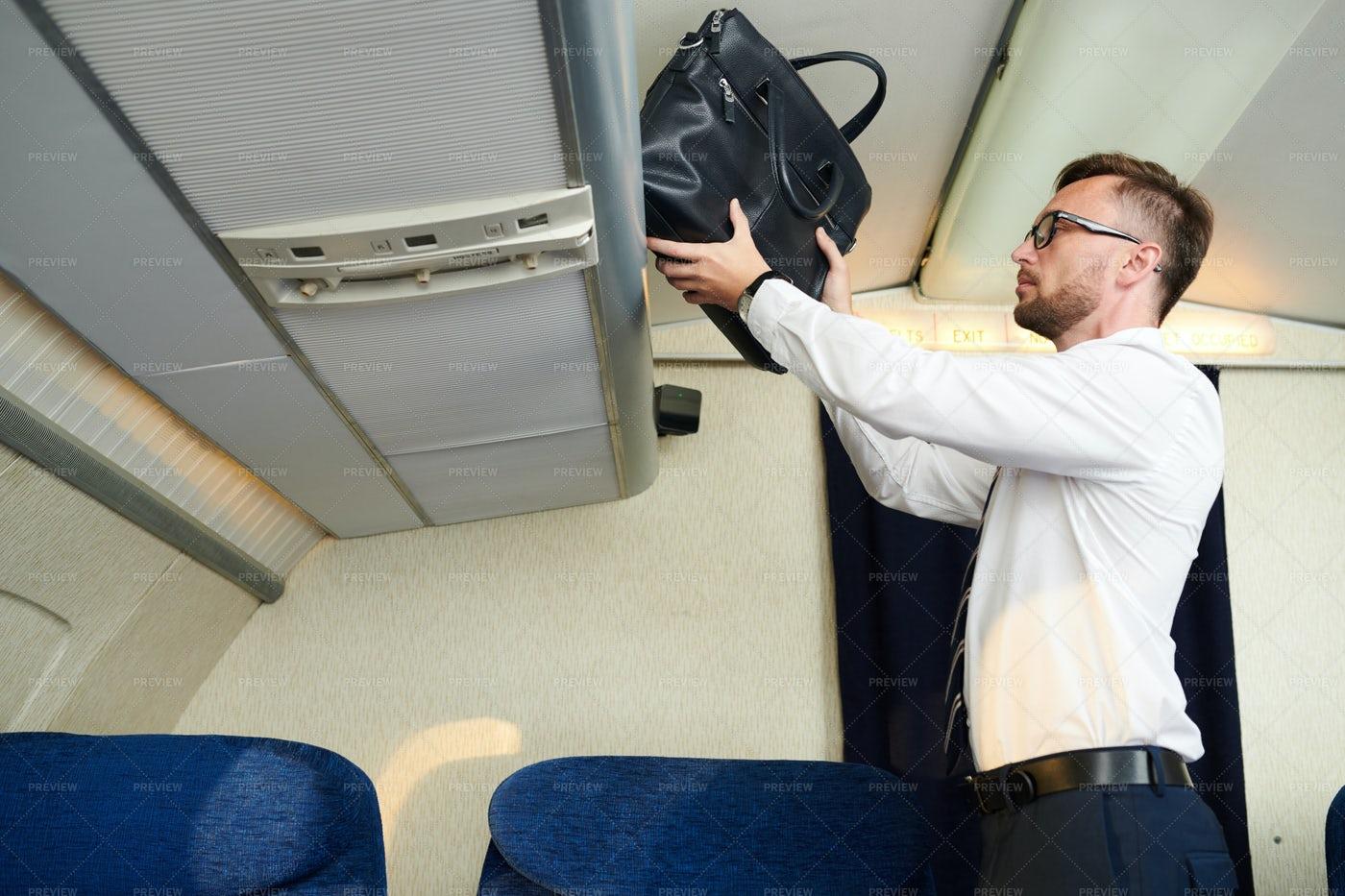Businessman Taking Luggage: Stock Photos