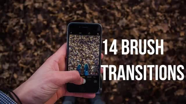 Brush Transitions: Stock Motion Graphics