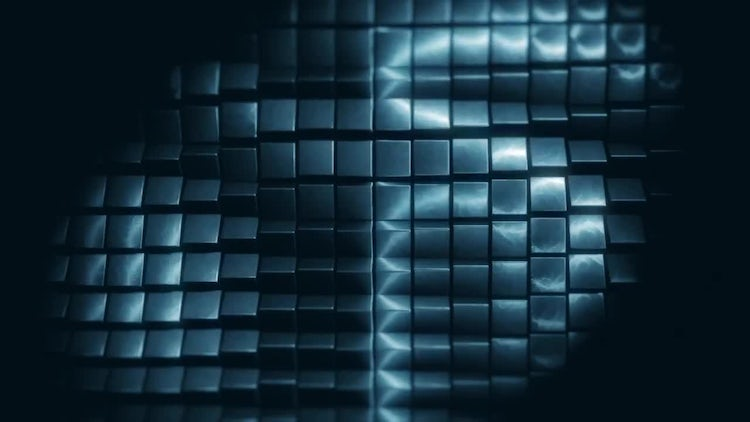 Dark Metal Squares Background: Motion Graphics