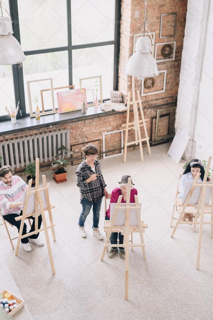 Modern Art Class: Stock Photos