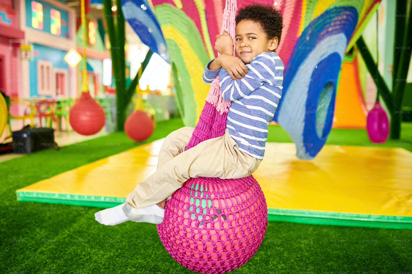 African-American Boy In Children...: Stock Photos