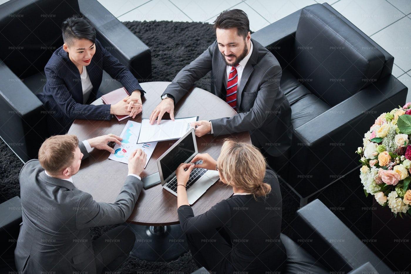 Business Partners At Meeting: Stock Photos