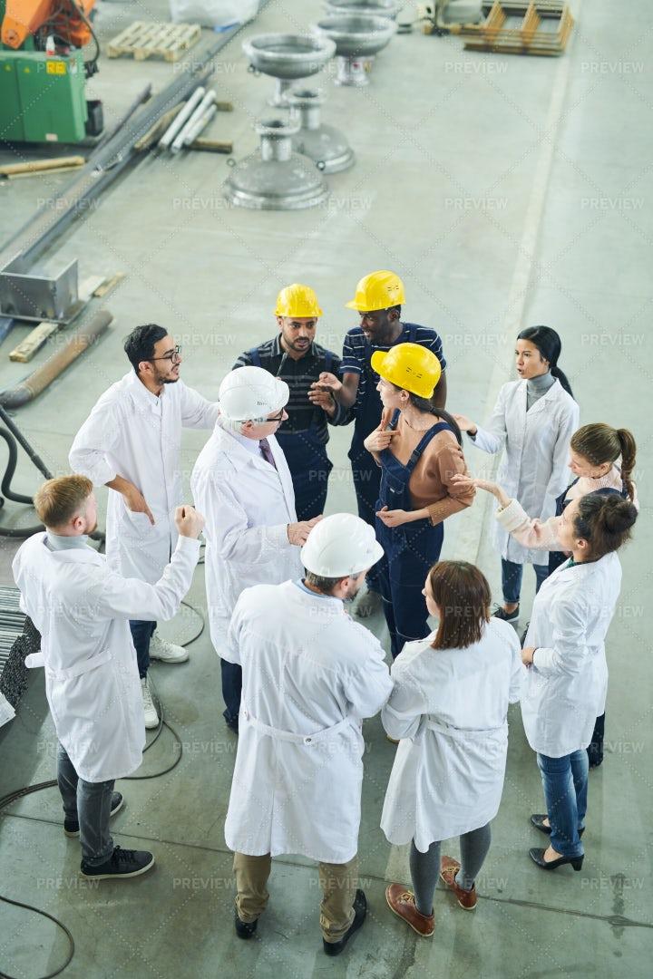 Factory Meeting High Angle: Stock Photos