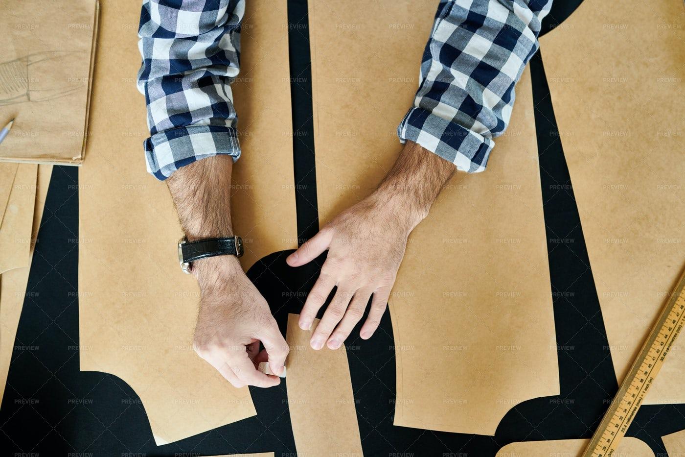 Crop Tailor Making Patterns: Stock Photos